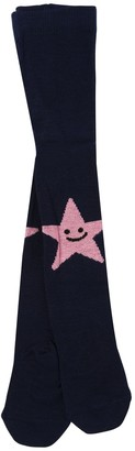 Stella Mccartney Kids Star Intarsia Cotton Blend Knit Tights