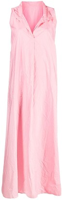 Daniela Gregis Sleeveless Flared Maxi Dress