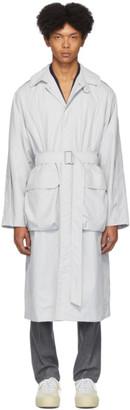 Deveaux Grey Nylon Utility Coat