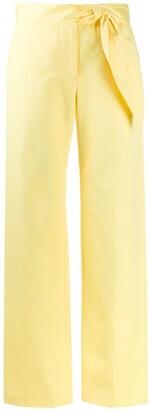 MSGM Side Tie Wide-Leg Trousers