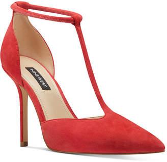 Nine West Breezy T-Strap Pumps Women Shoes