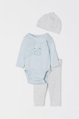 H&M 3-Piece Cotton Jersey Set