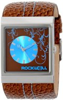 Rockwell Time Unisex MC115 Mercedes Brown Leather Band with Brown/Blue Dial Watch