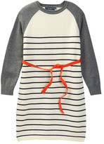 Toobydoo Striped Belted Sweater Dress (Big Girls)