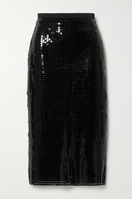 Christopher Kane Satin-trimmed Chainmail Midi Skirt - Black
