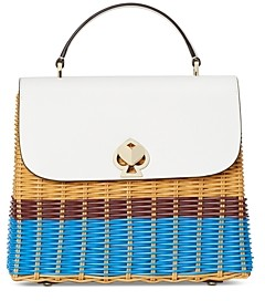 Kate Spade Romy Wicker Medium Top Handle Bag