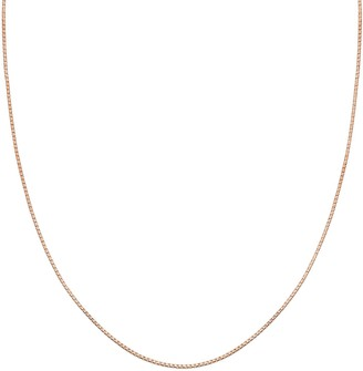 PRIMROSE Sterling Silver Box Chain Necklace