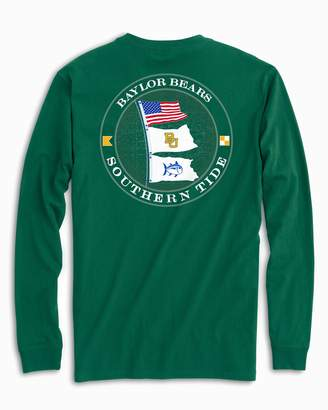 Southern Tide Baylor Bears Flags Long Sleeve T-Shirt