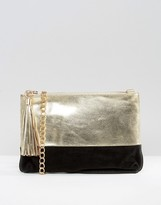 Urban Code Urbancode Metallic Leather Clutch Bag With Optional Cross Body Strap