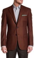 Hart Schaffner Marx Rust Woven Two Button Notch Lapel Wool Sport Coat