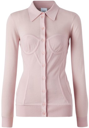 Burberry Corset Detail Knit Cardigan