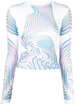 Thumbnail for your product : MAISIE WILEN Abstract-Print Long-Sleeve Top