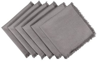 Dii DII Wine Heavyweight Check Fringed Napkin (Set of 6)
