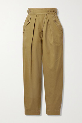 Ulla Johnson Dune Cotton-twill Tapered Pants - Beige