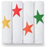 Aden Anais Aden + Anais 4 Pack of Cotton Star Print Swaddles