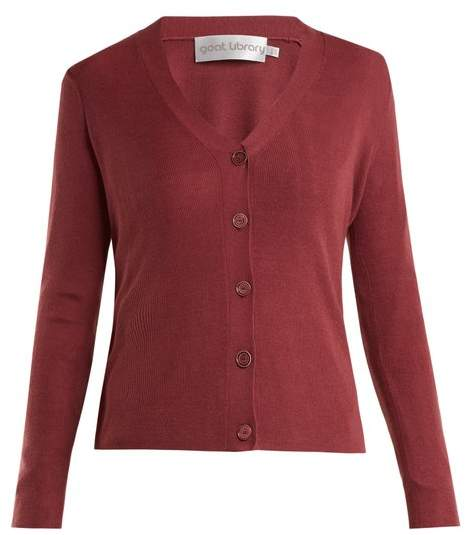 Goat Fellow Stretch Knit Cardigan - Womens - Dark Pink