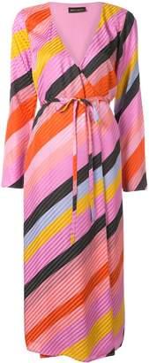 Stine Goya Paisley stripe wrap dress