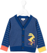 Paul Smith striped printed cardigan - kids - Cotton - 6 mth
