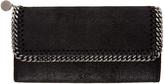 Stella McCartney Black Falabella Continental Flap Wallet