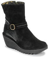Fly London YOME women's Low Ankle Boots in Black