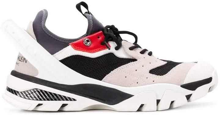 Calvin Klein low-top suede slip-on sneakers