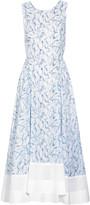 Tory Burch Blaire cross-back printed cotton midi dress