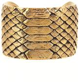 Saint Laurent Python-effect brass cuff