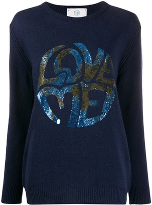 Alberta Ferretti long sleeve Love Me jumper