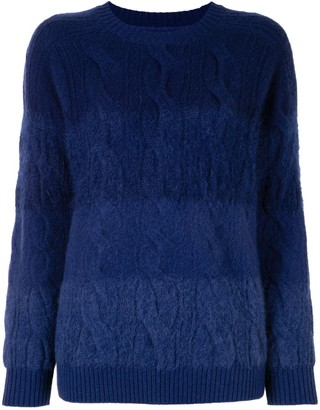 Coohem Ombre Cable-Knit Sweater