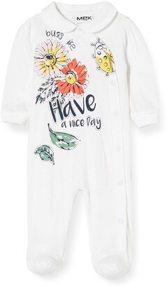 MEK Baby Girls' Tutina Jersey Aperta Con Colletto Playsuit