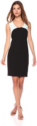 Jones New York Women's Crepe Coloblocked Dress