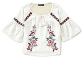 Takara Little Girls 4-6X Floral-Embroidered Woven Top