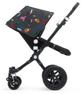 Bugaboo Cameleon3 All Black Stroller + Andy Warhol Happy Bug Day Fabric Set