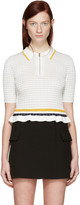 3.1 Phillip Lim White Knit Polo