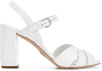 Prada cross-over strap sandals
