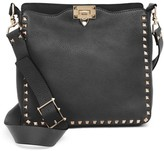 Valentino Garavani Small Rockstud Leather Hobo Bag