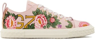 Giuseppe Zanotti Floral Low-Top Sneakers