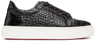 Christian Louboutin Black Croc Vieirissima Sneakers