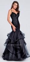 Ellie Wilde for Mon Cheri Criss Cross Strappy Back Shimmering Mermaid Dress