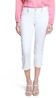 NYDJ Cool Embrace Skinny Crop with Side Slits - Optic White