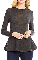 Daniel Cremieux Carly Peplum Long Sleeve Sweater