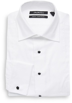 Saks Fifth Avenue Tuxedo Slim-Fit Cotton Dress Shirt