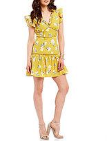 J.o.a. Ruffle Tiered Printed Dress