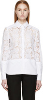 Erdem White Lace Paneled Beatrix Shirt