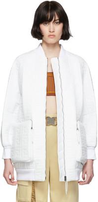 Fendi White Forever Bomber Jacket