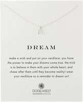 "Dogeared Reminder ""Dream"" Sterling Wishbone Pendant Necklace"