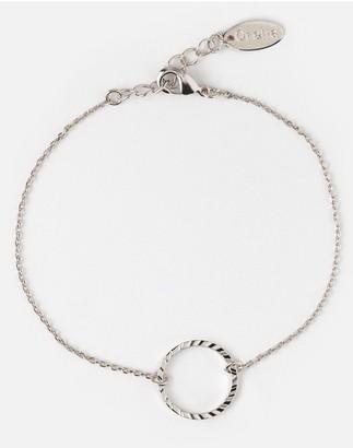 Orelia Gold Open Circle Bracelet