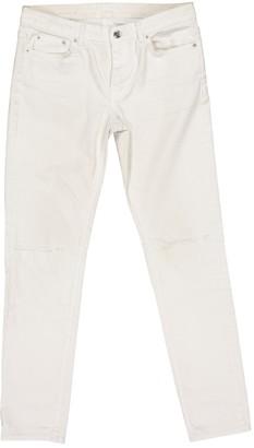 BLK DNM White Cotton - elasthane Jeans for Women