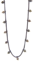 Ten Thousand Things Studded Black Pearl Chain Choker Necklace