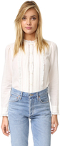 Rebecca Taylor Winter Gauze Lace Blouse